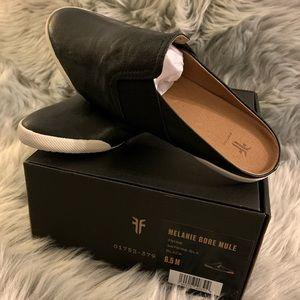 FRYE Melanie Mule - Black    NEW IN BOX